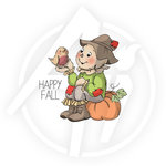 Art Impressions - Halloween Collection - Unmounted Rubber Stamp Set - Happy Fall