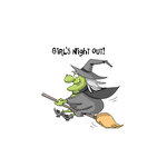 Art Impressions - Halloween Collection - Unmounted Rubber Stamp Set - Girls Night Out