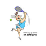Art Impressions - People Collection - Unmounted Rubber Stamp Set - Birthday Love