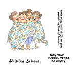Art Impressions - Girlfriends Collection - Unmounted Rubber Stamp Set - Quilt