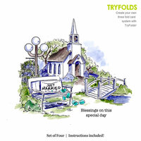 Art Impressions - Tryfolds Collection - Unmounted Rubber Stamp Set - Steeple Set