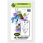 Art Impressions - Watercolor Minis Collection - Unmounted Rubber Stamp Set - Blooming Birdhouse