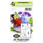 Art Impressions - Watercolor Minis Collection - Unmounted Rubber Stamp Set - Chest of Flowers