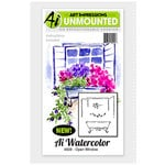 Art Impressions - Watercolor Minis Collection - Unmounted Rubber Stamp Set - Open Window