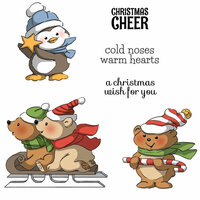 Art Impressions - Christmas Collection - Unmounted Rubber Stamp Set - Christmas Cheer