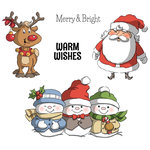 Art Impressions - Christmas Collection - Unmounted Rubber Stamp Set - Holly Jolly