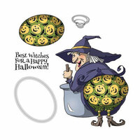 Art Impressions - Shake Your Booty Collection - Halloween - Die and Unmounted Rubber Stamp Set - Best Witches