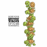 Art Impressions - Stackers Collection - Clear Photopolymer Stamps - Turtle