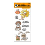 Art Impressions - Halloween Collection - Unmounted Rubber Stamp Set - Howl-oween