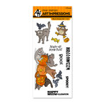 Art Impressions - Halloween Collection - Unmounted Rubber Stamp Set - Meow-lloween