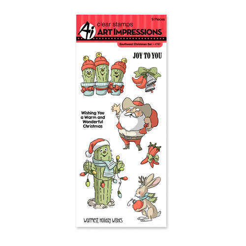 Art Impressions - Christmas Collection - Clear Photopolymer Stamp Set - Southwest Christmas
