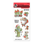 Art Impressions - Christmas Collection - Unmounted Rubber Stamp Set - Southwest Christmas