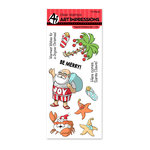 Art Impressions - Christmas Collection - Unmounted Rubber Stamp Set - Tropical Christmas