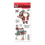 Art Impressions - Christmas Collection - Unmounted Rubber Stamp Set - Merriest Christmas