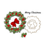 Art Impressions - Christmas Collection - Unmounted Rubber Stamp Set - Christmas Wreath