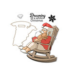 Art Impressions - Mini Shakers Collection - Christmas - Die and Unmounted Rubber Stamp Set - Dreaming