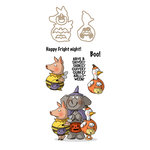 Art Impressions - Mini Shakers Collection - Halloween - Die and Unmounted Rubber Stamp Set - Quivery