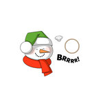 Art Impressions - Mini Shakers Collection - Christmas - Die and Unmounted Rubber Stamp Set - Snowman