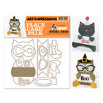 Art Impressions - Steel Dies - Halloween - Cat and Owl Placecard Set