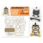 Art Impressions - Steel Dies - Halloween - Cat and Owl Placecard Set