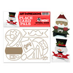 Art Impressions - Steel Dies - Christmas Placecard Set