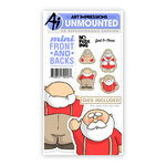 Art Impressions - Mini Front and Backs Collection - Christmas - Die and Unmounted Rubber Stamp Set - Santa and Mrs