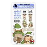 Art Impressions - Mini Front and Backs Collection - Christmas - Die and Unmounted Rubber Stamp Set - Elf and Reindeer