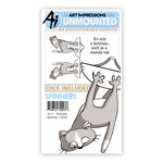 Art Impressions - Spinners Collection - Die and Unmounted Rubber Stamp Set - Scaredy