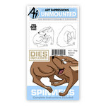 Art Impressions - Spinners Collection - Die and Unmounted Rubber Stamp Set - Dog