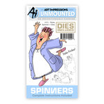 Art Impressions - Spinners Collection - Die and Unmounted Rubber Stamp Set - Robe