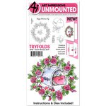 Art Impressions - Mini Tryfolds Collection - Unmounted Rubber Stamp and Die Set - Sweet Wishes