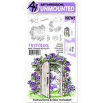 Art Impressions - Mini Tryfolds Collection - Unmounted Rubber Stamp and Die Set - Celebrate Spring