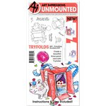Art Impressions - Mini Tryfolds Collection - Unmounted Rubber Stamp and Die Set - Everything Wonderful