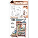 Art Impressions - Mini Tryfolds Collection - Unmounted Rubber Stamp and Die Set - Pamper Your-Shelf