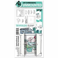Art Impressions - Mini Tryfolds Collection - Unmounted Rubber Stamp and Die Set Set - Homemade Happiness