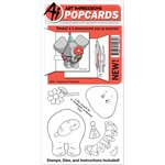 Art Impressions - PopCards Collection - Die and Unmounted Rubber Stamp Set - Elephant