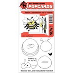 Art Impressions - PopCards Collection - Die and Unmounted Rubber Stamp Set - Bee