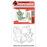 Art Impressions - PopCards Collection - Die and Unmounted Rubber Stamp Set - Gator