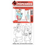 Art Impressions - PopCards Collection - Die and Unmounted Rubber Stamp Set - Oldie