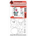 Art Impressions - PopCards Collection - Die and Unmounted Rubber Stamp Set - Panda