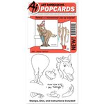 Art Impressions - PopCards Collection - Die and Unmounted Rubber Stamp Set - Horse