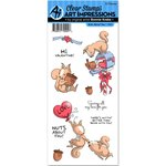 Art Impressions - Valentine Collection - Unmounted Rubber Stamp Set - Nuts About You