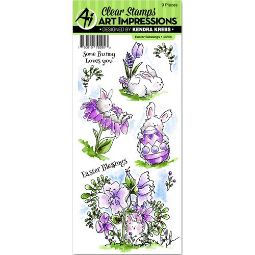 Art Impressions - Easter Collection - Clear Photopolymer Stamp Set - Blessings