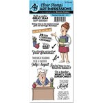 Art Impressions - Work and Play Collection - Unmounted Rubber Stamp Set - Teachers Rule