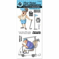 Art Impressions - Work and Play Collection - Clear Photopolymer Stamp Set - Par-Tee Golfers