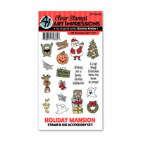 Art Impressions - Holiday Mansion Collection - Stamp and Die Set - Accessory