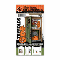 Art Impressions - Mini Tryfolds Collection - Stamp and Die Set - Halloween Treats