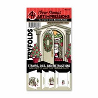 Art Impressions - Mini Tryfolds Collection - Stamps and Die Set - Magical Christmas