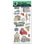 Art Impressions - Work and Play Collection - Clear Stamp Set - Road Trip