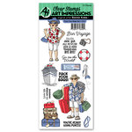 Art Impressions - Work and Play Collection - Clear Photopolymer Stamp Set - Pack Your Bags